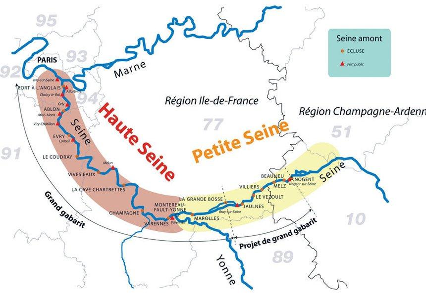 carte fluvial