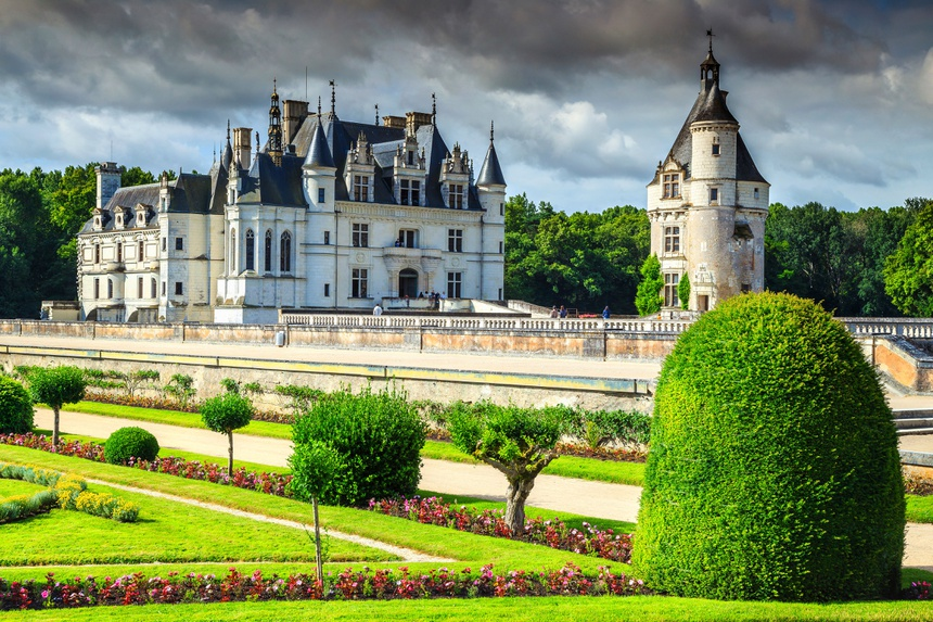 Amazing castle of Chenonceau, Loire Valley, France, Europe