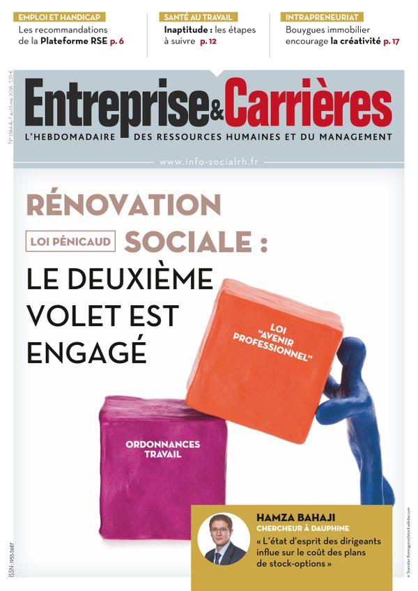 Couverture magazine Entreprise et carrières n° 1384