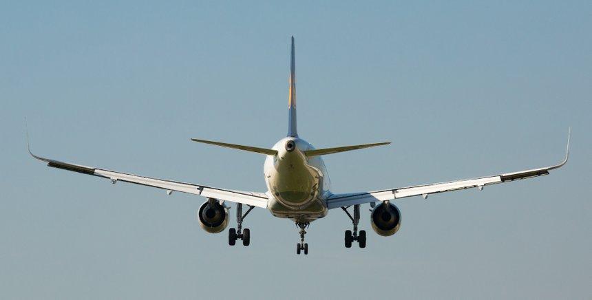 Lufthansa Airlines plane landing