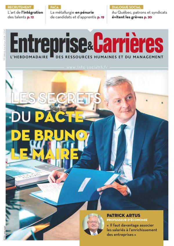 Couverture magazine Entreprise et carrières n° 1388