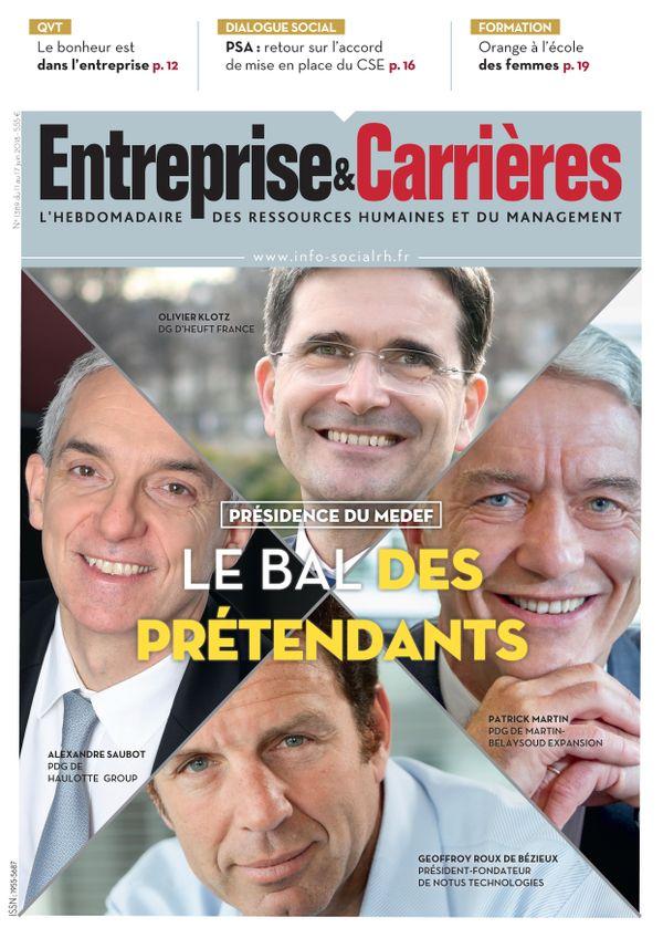 Couverture magazine Entreprise et carrières n° 1389