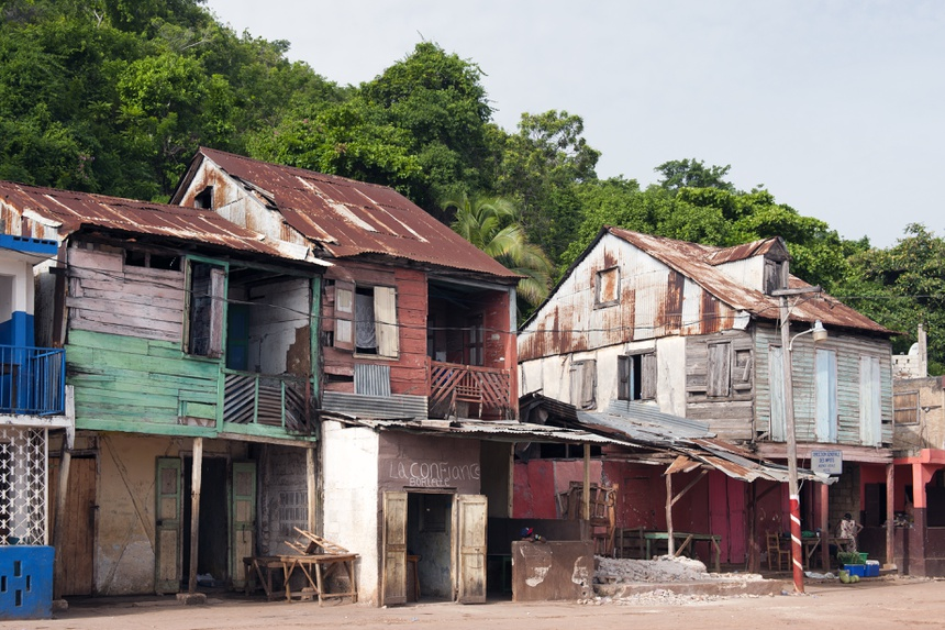 Traditionelle Häuser, Fischerdorf Pestel, Haiti