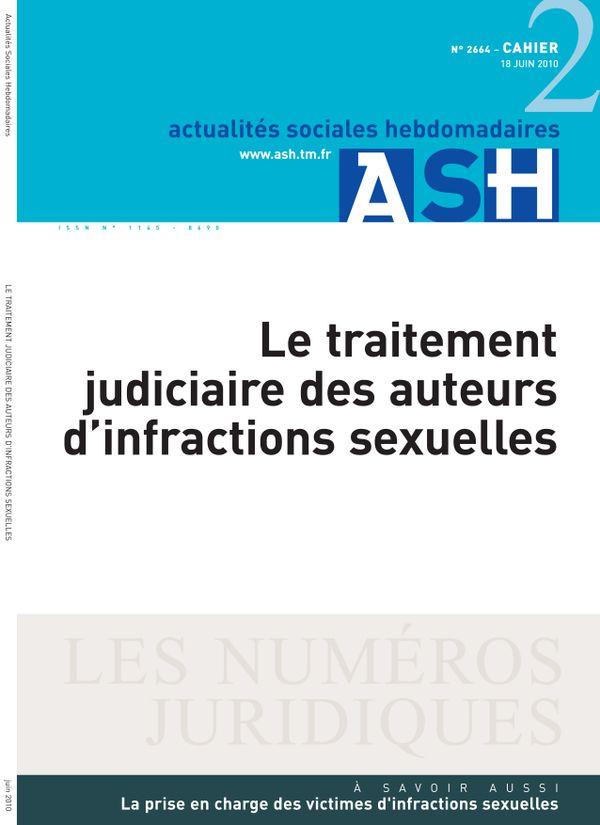 Le traitement judiciaire des auteurs d'infractions sexuelles
