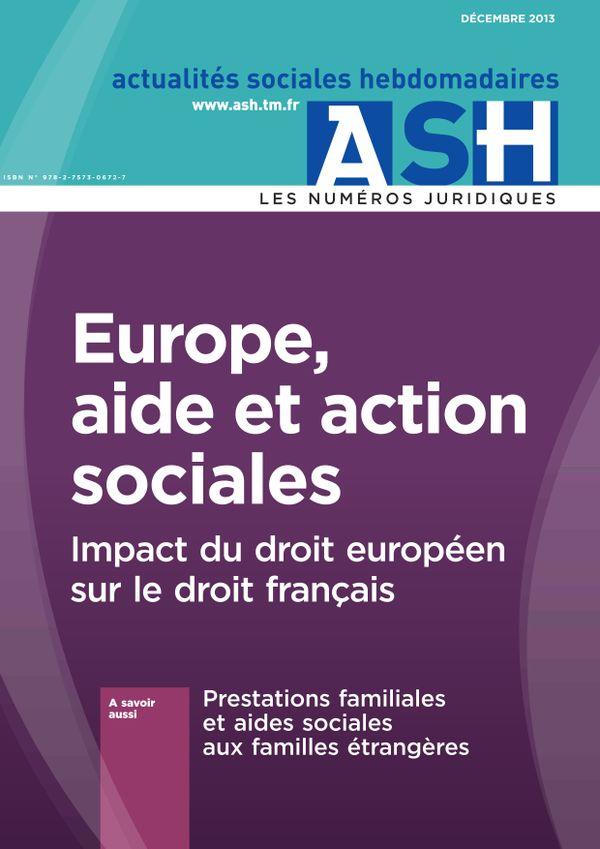 Europe, aide et action sociales - Impact du droit européen sur le droit français