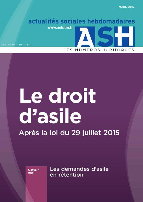 Le droit d'asile - Après la loi du 29juillet 2015