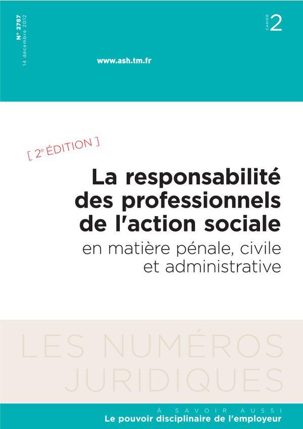 La responsabilité des professionnels de l'action sociale en matière pénale, civile et administrative