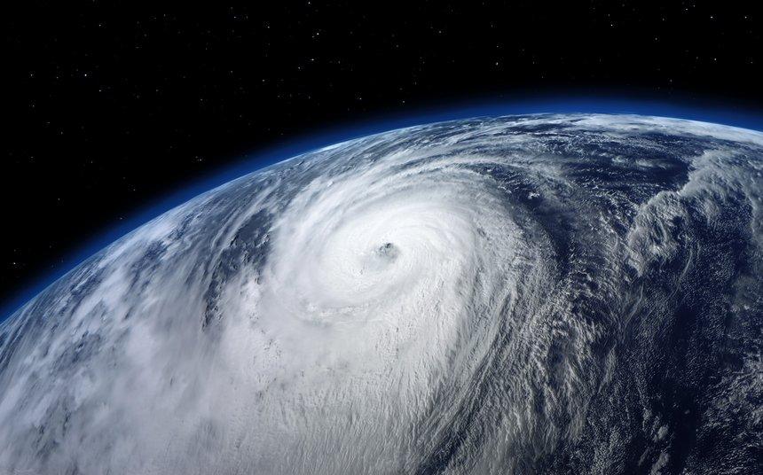 typhoon, satellite view