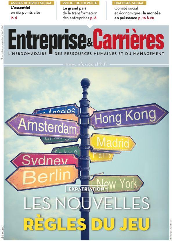 Couverture magazine Entreprise et carrières n° 1401