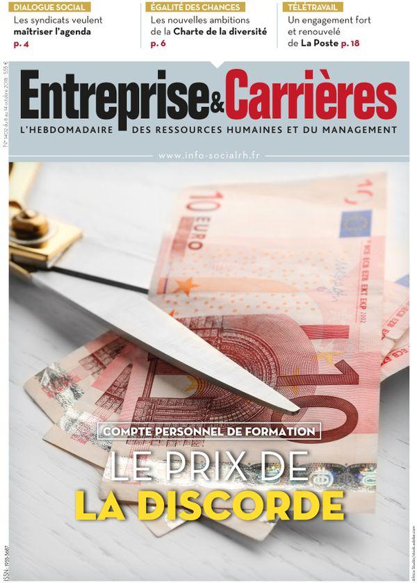 Couverture magazine Entreprise et carrières n° 1402