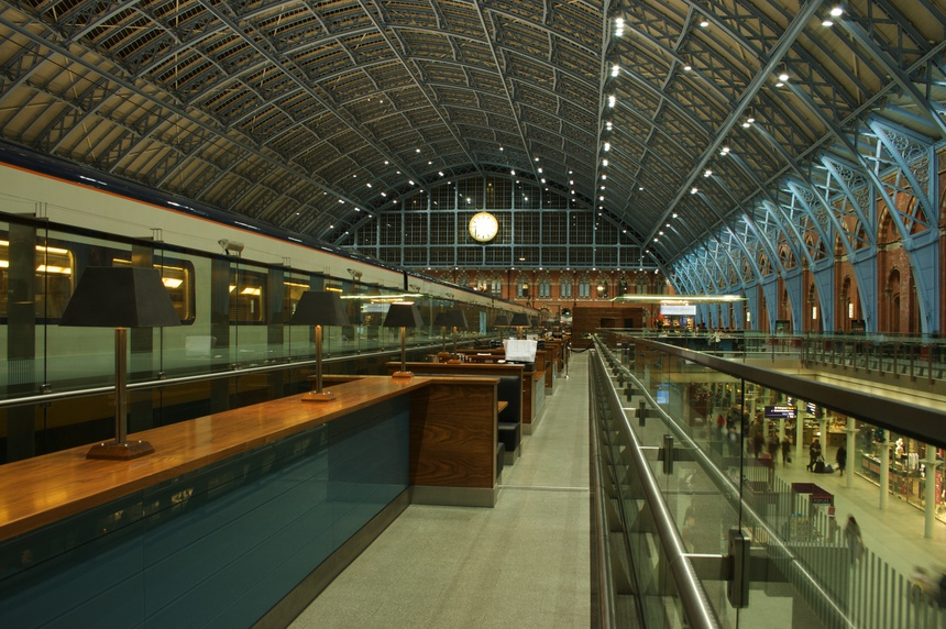 gare de Saint Pancras à Londres