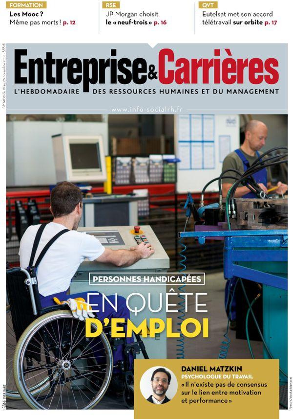 Couverture magazine Entreprise et carrières n° 1408