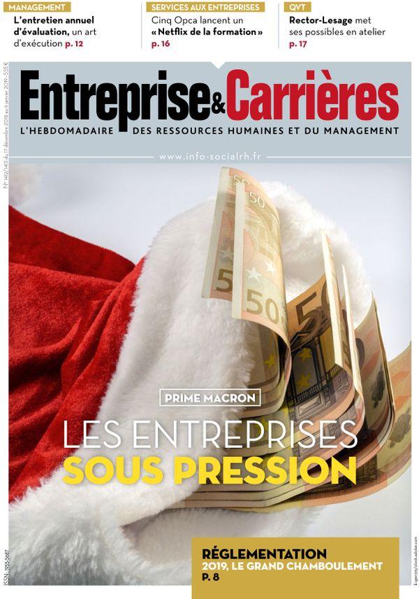 Couverture magazine Entreprise et carrières n° 1412