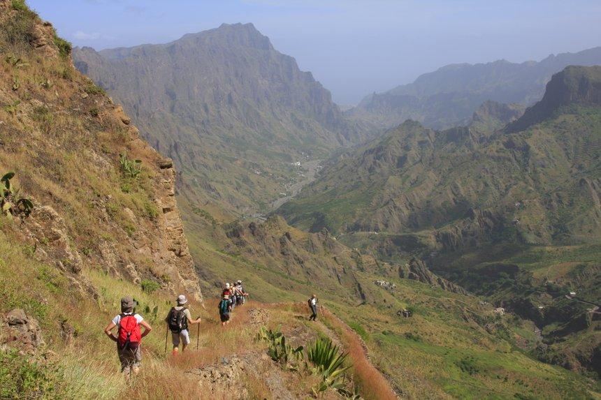 Sur les anciens volcans de Santo Antao