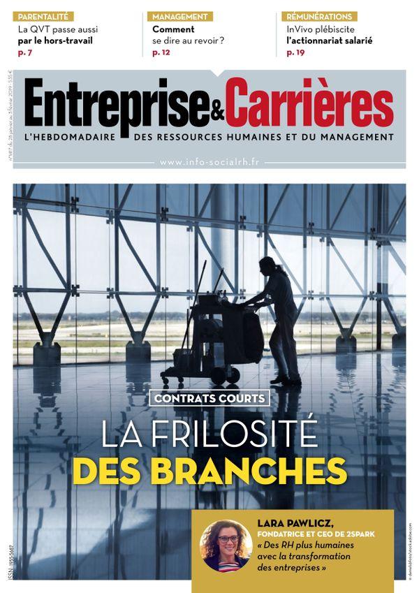 Couverture magazine Entreprise et carrières n° 1417