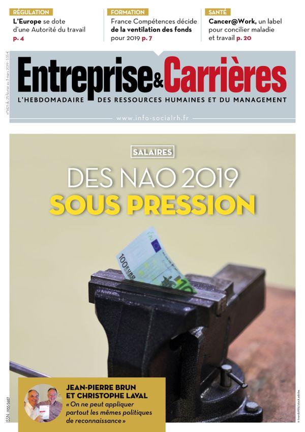 Couverture magazine Entreprise et carrières n° 1421