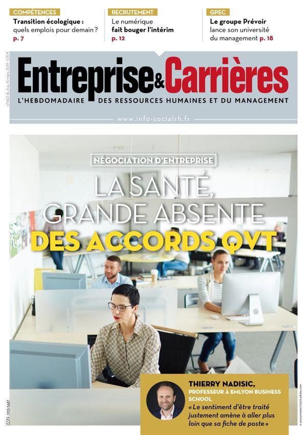Couverture magazine Entreprise et carrières n° 1422