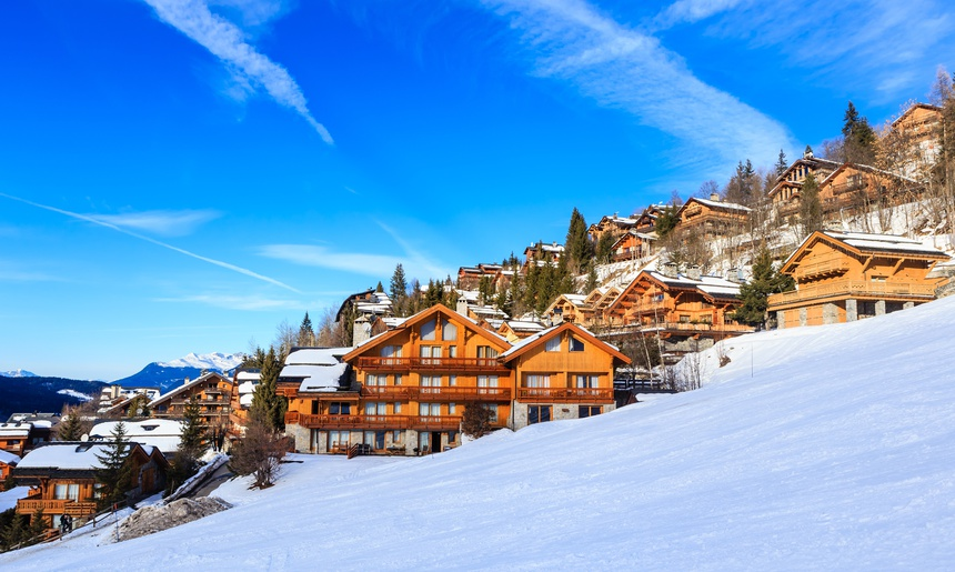 Chalet on the slopes of the valley Meribel. Ski Resort Meribel