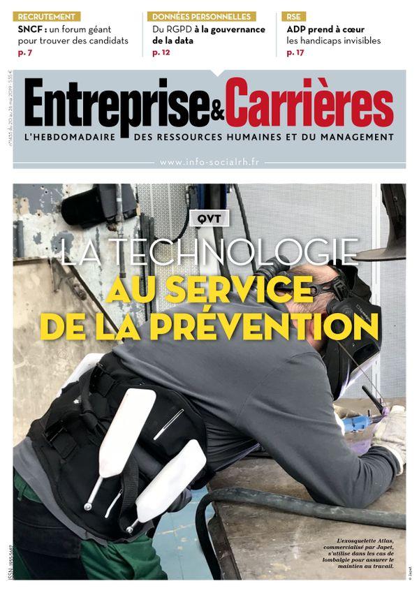 Couverture magazine Entreprise et carrières n° 1433