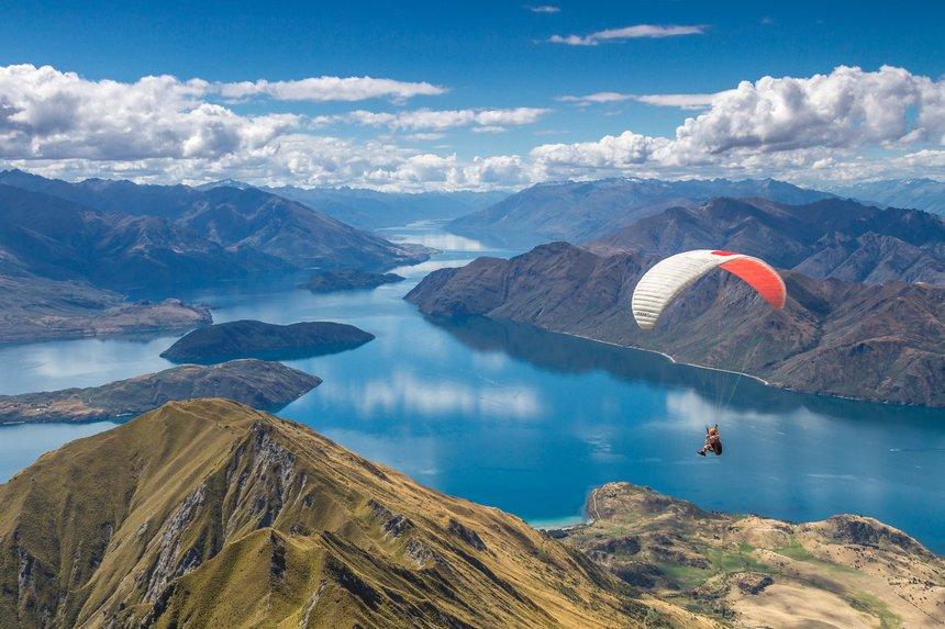 Parachuting in Wanaka, New Zealand