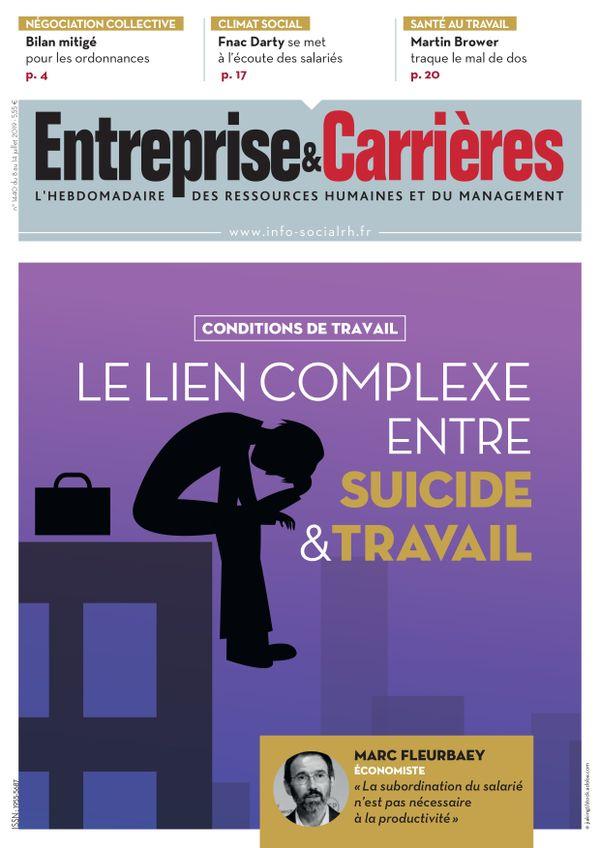 Couverture magazine Entreprise et carrières n° 1440
