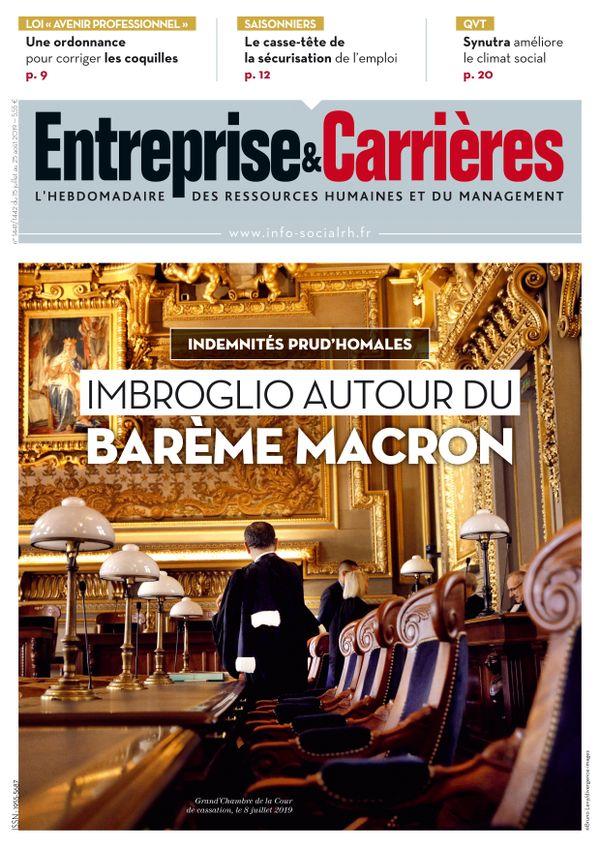 Couverture magazine Entreprise et carrières n° 1441