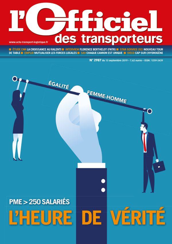 Couverture magazine officiel des transporteurs n° 2987