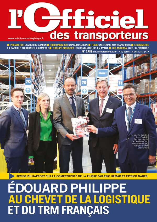 Couverture magazine officiel des transporteurs n° 2988