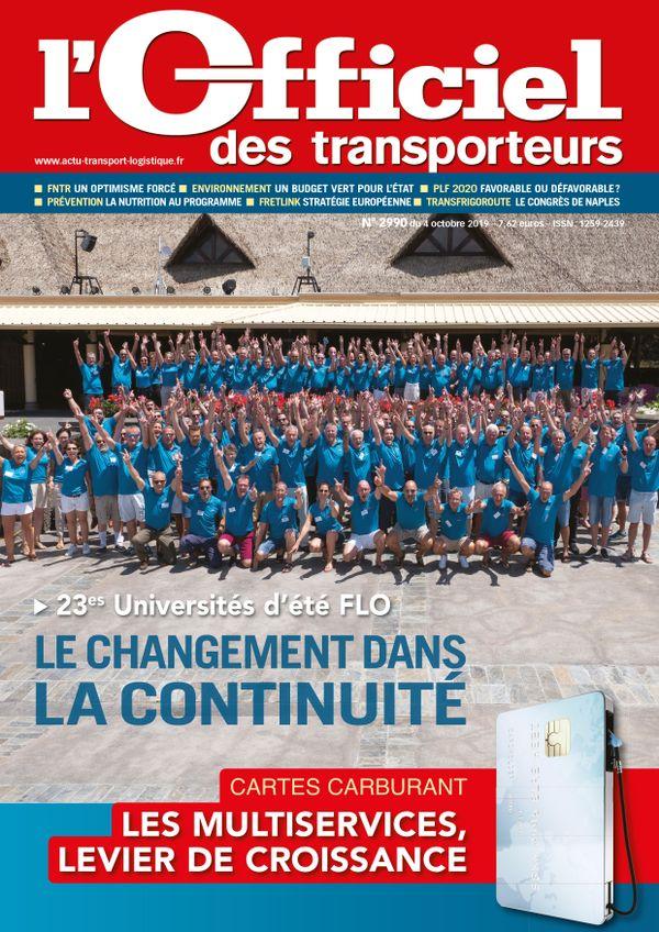 Couverture magazine officiel des transporteurs n° 2990