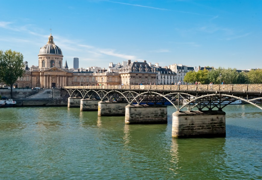 Paris, Pont des Arts on Seine river
