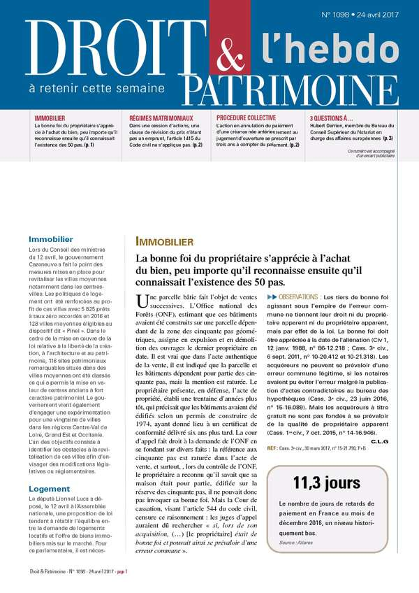 Sommaire n°1098