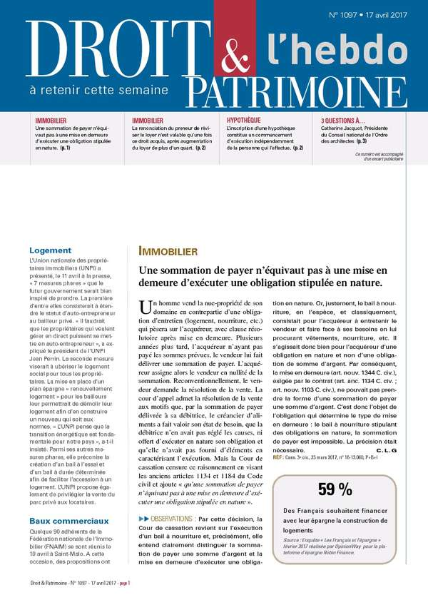Sommaire n°1097