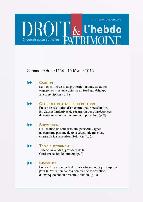 Sommaire n°1134