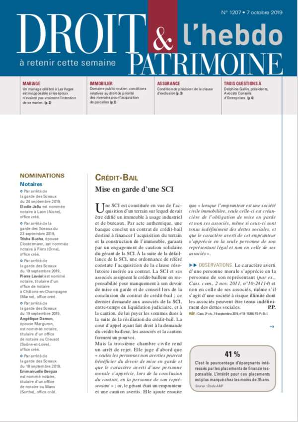 Sommaire n°1207