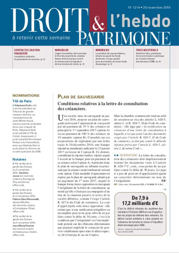 Sommaire n°1214