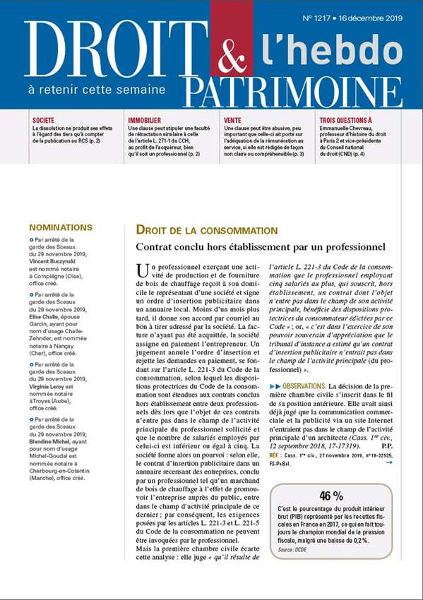 Sommaire n°1217