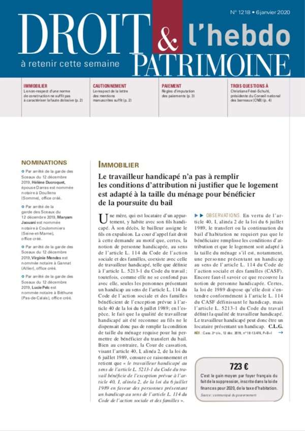 Sommaire n°1218