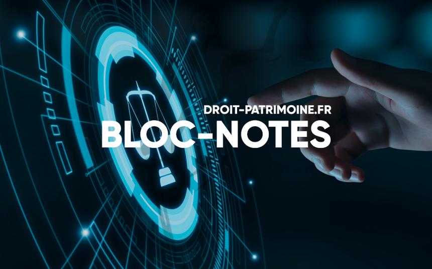 BLOC NOTES DROIT PATRIMOINE AGENDA