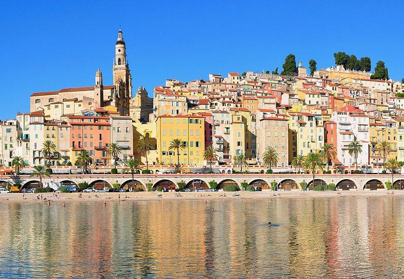 Menton, sur la Côte d'Azur.
