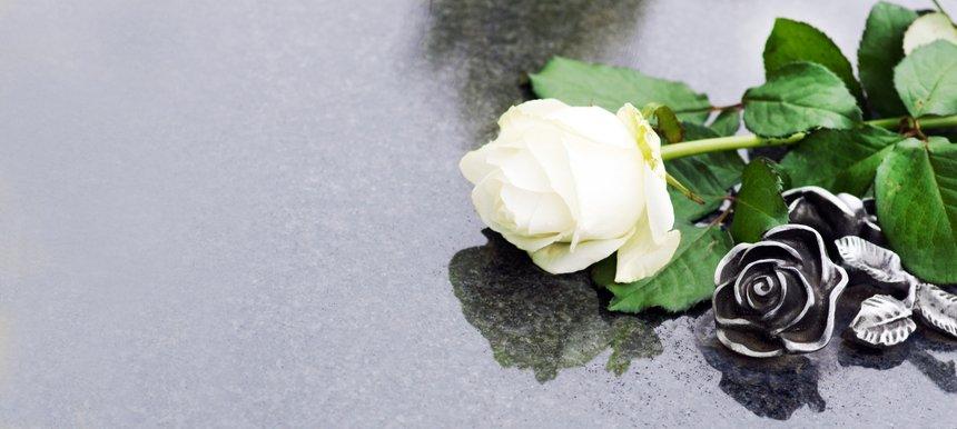 Grave with rose, Allerheiligen, Allerseelen, Grab, Rose, Panorama, Banner, header, headline, Textraum, copy space