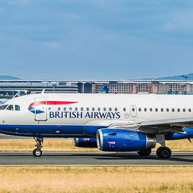 AIRPORT FRANKFURT,GERMANY: JUNE 23, 2017: Airbus A320 British Ai