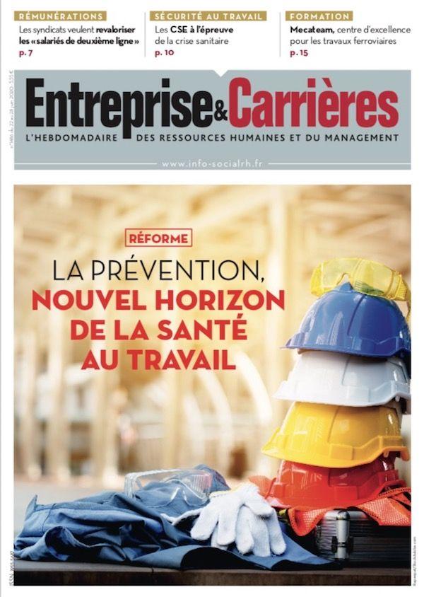 Couverture magazine Entreprise et carrières n° 1486