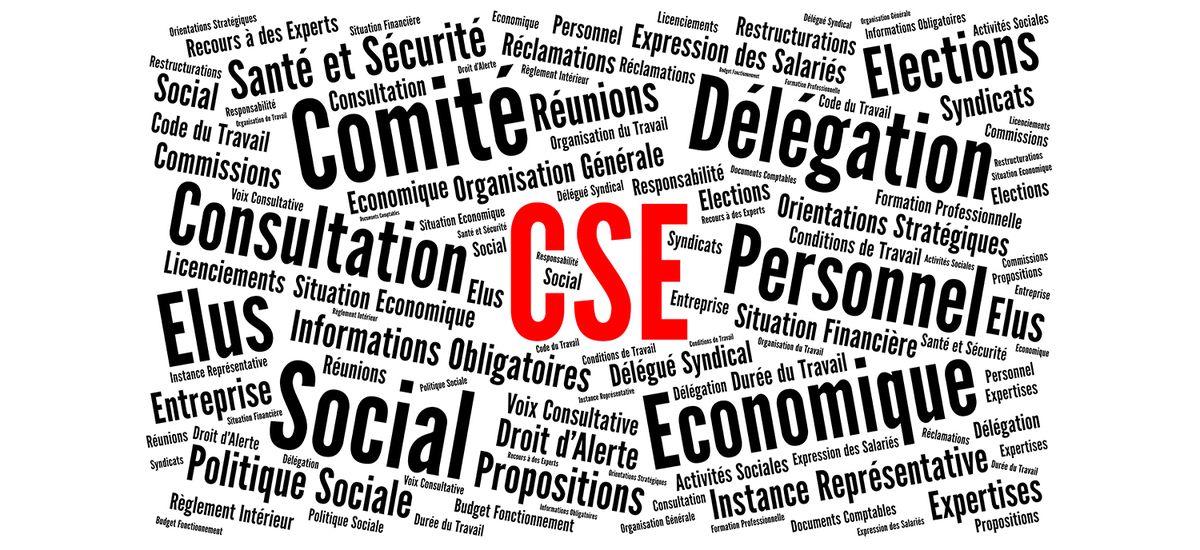 CSE, Comité social et économique nuage de mots