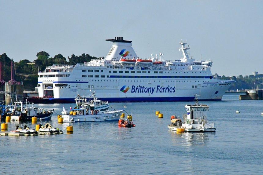 Saint Malo; France - july 28 2019 : ferry
