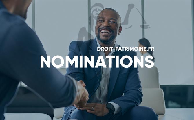 NOMINATIONS DROIT PATRIMOINE DROIT&PATRIMOINE
