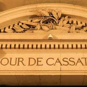 Fronton de la Cour de Cassation au Palais de Justice de Paris (F