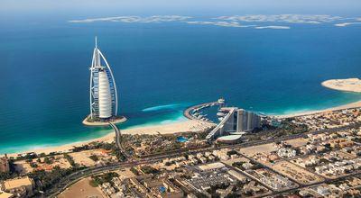 Dubai, UAE. Burj Al Arab from above