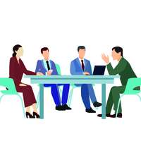 342389 Flat Meeting Conference Groups Set