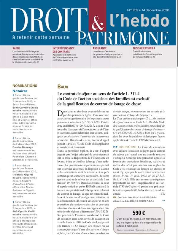Sommaire n°1262