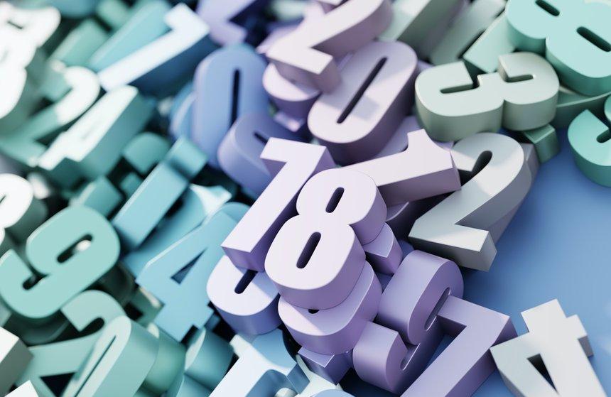 Infinite random numbers, original 3d background, technology concepts